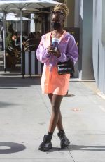 DIARRA SYLLA Out Shopping in Beverly Hills 03/11/2021