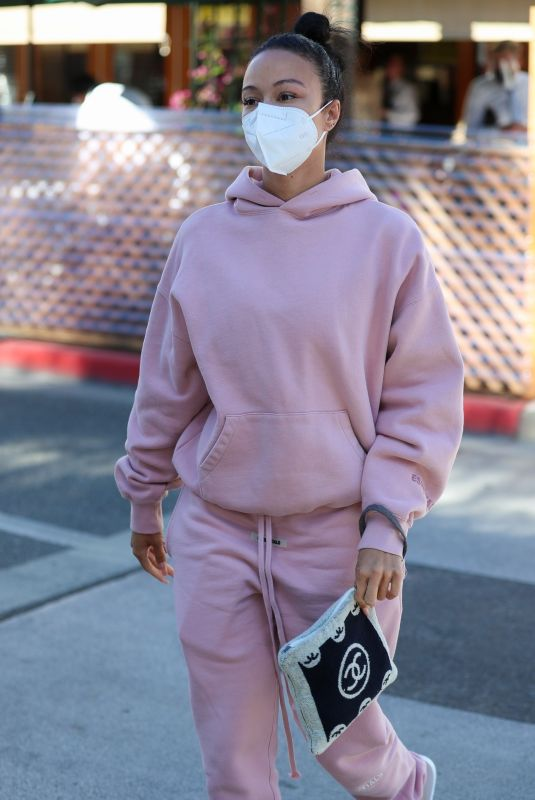 DRAYA MICHELE Out for Lunch in Beverly Hills 03/11/2021