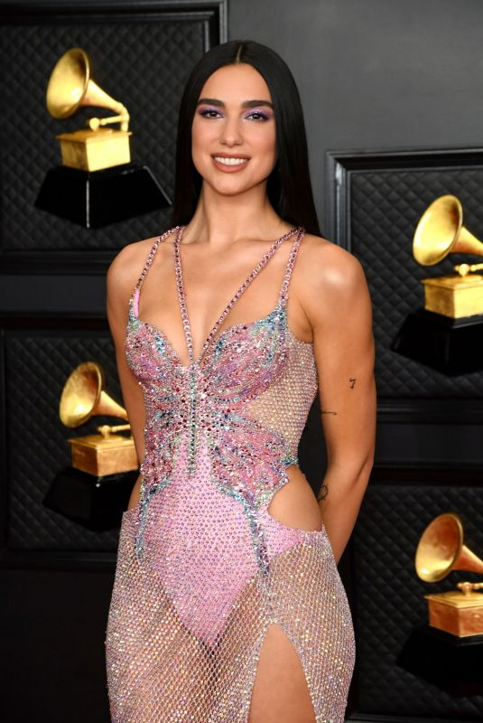 DUA LIPA at 2021 Grammy Awards in Los Angeles 03/14/2021