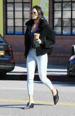EIZA GONZALEZ Out for Coffee in West Hollywood 03/16/2021