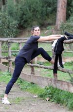 ELISA ISOARDI Workout at a Park in Rome 03/02/2021