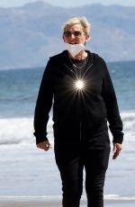 ELLEN DEGENERES Out at a Beach in Santa Barbara 03/21/2021