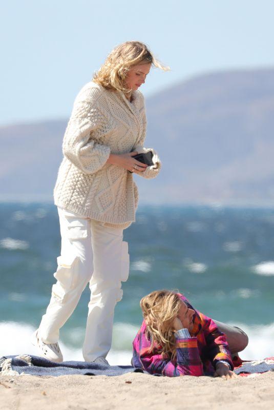 ELSA HOSK Out at a Beach in Malibu 03/21/2021