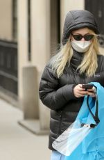 EMILY ALYN LIND Heading to Hair-and-makeup on the Set of Gossip Girl 03/16/2021