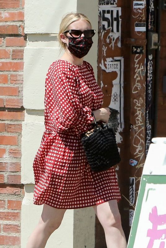 EMMA ROBERTS Out Shopping in Los Feliz 03/29/2021