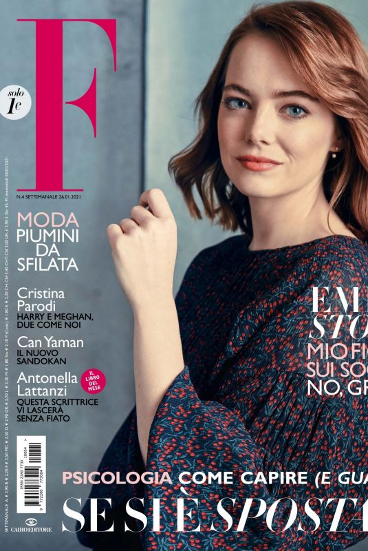 EMMA STONE in F Magazine, January 2021