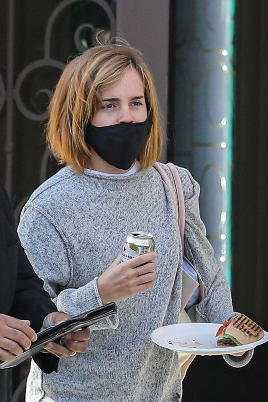 EMMA WATSON Leaves a Tailor in Beverly Hills 03/10/2021