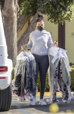 ENIKO PARRISH at a Dry Cleaning in Calabasas 03/07/2021