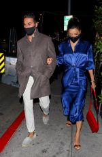 EVA LONGORIA and Jose Baston at Mr. Chow in Beverly Hills 03/30/2021