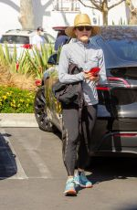 FELICITY HUFFMAN Out wit Her Dogs in Studio City 02/28/2021