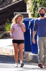 FLORENCE PUGH and Zach Braff Out with Their Dog in Los Angeles 03/01/2021