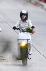 FLORENCE PUGH Out Riding a Electric Bike in Pasadena 03/07/2021