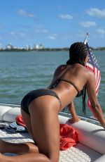 GABRIELLE UNION in Bikinis at a Boat 03/12/2021