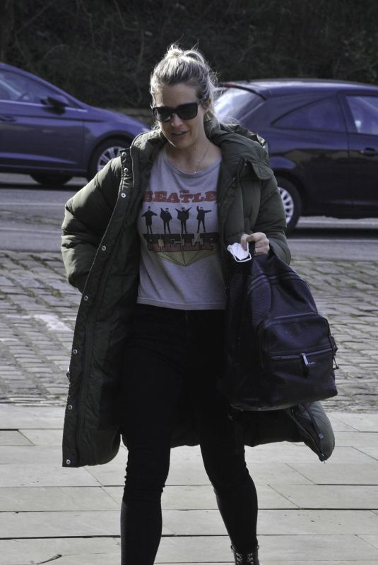 GEMMA ATKINSON Arrives at Hits Radio in Manchester 03/22/2021