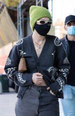 GIGI HADID Arrives at Versace Office in Milan 02/28/2021