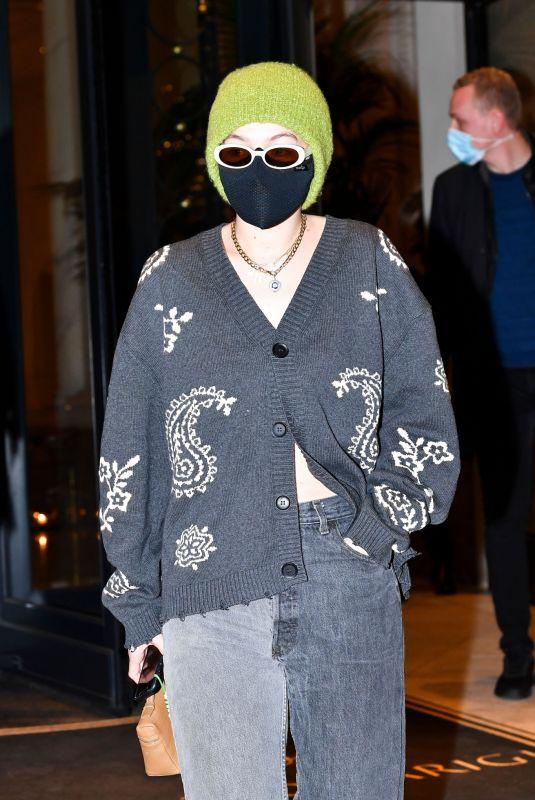 GIGI HADID Leaves Her Hotel in Milan 02/28/2021