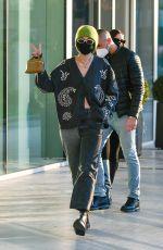 GIGI HADID Leaves Versace Office in Milan 02/28/2021