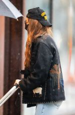 GIGI HADID Out in New York 03/24/2021