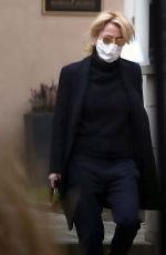 GILLIAN ANDERSON Out in Prague 03/05/2021