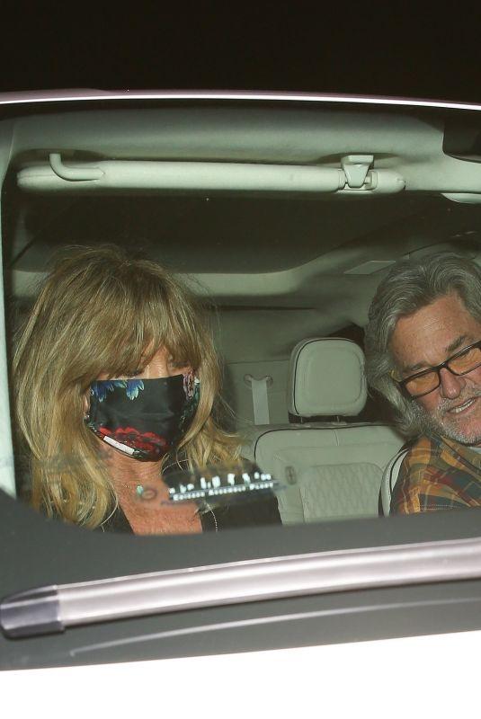 GOLDIE HAWN and Kurt Russell at Giorgio Baldi in Santa Monica 03/10/2021