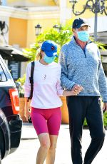 HAYLEY ROBERTS and David Hasselhoff at Le Pain Quotidien in Calabasas 03/20/2021