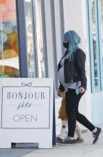 HILARY DUFF Out Shopping in Studio City 03/13/2021