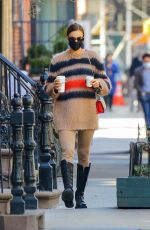 IRINA SHAYK Out for Coffee in New York 03/21/2021
