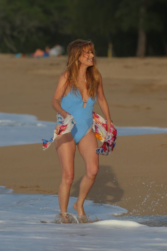 JANE SYMOUR in Swimsuit at a Beach in Hawaii 03/06/2021