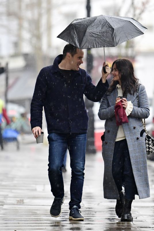 JENNA LOUISE COLEMAN Out with Her French Accent Coach Fabien Enjalric in London 03/07/2021