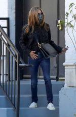 JENNIFER ANISTON Leaves a Hair Salon in Beverly Hills 03/15/2021