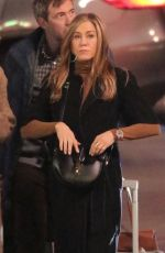 JENNIFER ANISTON on the Set of The Morning Show in Los Angeles 03/10/2021
