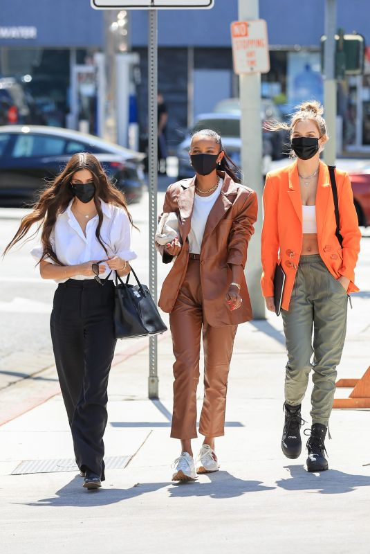 JOSEPHINE SKRIVER, JASMINE TOOKES and SARA SAMPAIO Out in Los Angeles 03/26/2021