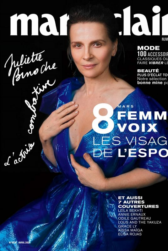 JULIETTE BINOCHE in Marie Claire Magazine, France April 2021