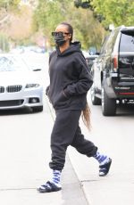 JUSTINE SKYE Heading to Pilates Class in Los Angeles 03/25/2021