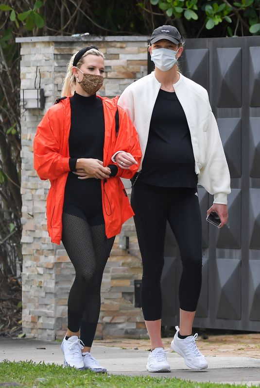 KARLIE KLOSS Out with Friend in Miami Beach 03/09/2021