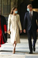 KATE MIDDLETON at Coronavirus Disease Vaccination Centre at Westminster Abbey 03/23/2021
