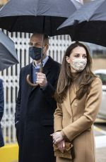 KATE MIDDLETON at Newham Ambulance Station in East London 03/18/2021