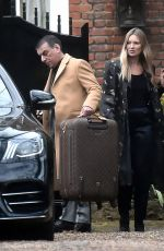 KATE MOSS Leaves Her Home in London 03/18/2021