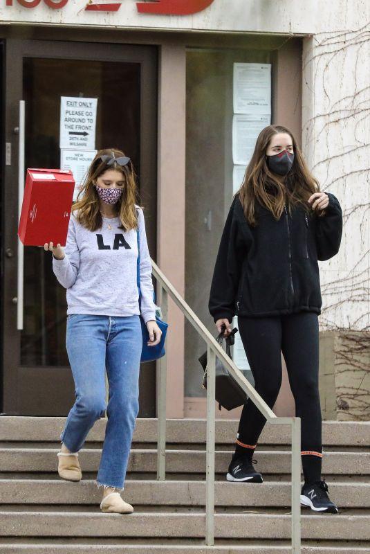 KATHERINE and CHRISTINA SCHWARZENEGEER Leaves New Balance Shoe Store in Santa Monica 03/12/2021