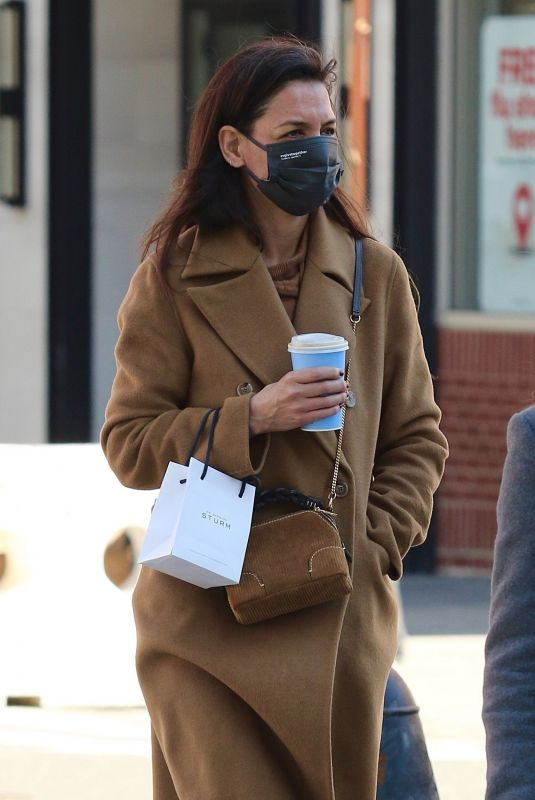KATIE HOLMES Out in New York 03/03/2021
