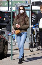 KATIE HOLMES Out Shopping in New York 03/14/2021