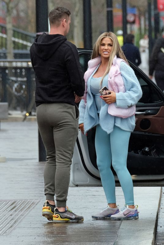 KATIE PRICE and Carl Woods Out in London 03/19/2021
