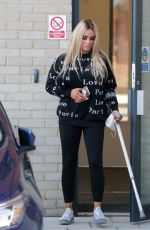 KATIE PRICE Leaves Her Hotel in London 03/02/2021