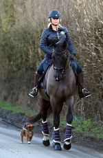 KATIE PRICE Out Riding a Horse in London 02/28/2021