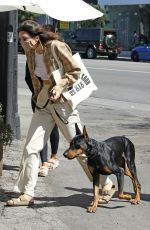KENDALL JENNER Out with Her Dog in West Hollywood 03/26/2021