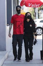 KORTNEY KARDASHIAN and Travis Barker Out in West Hollywood 03/26/2021