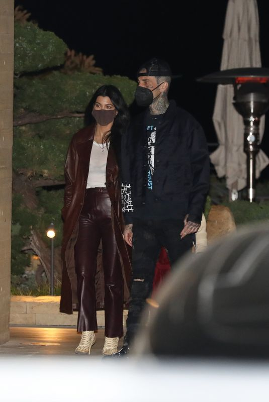KOURTNEY KARDASHIAN and Travis Barker at Nobu in Malibu 03/25/2021