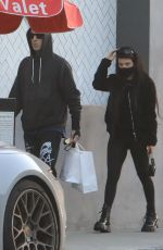 KOURTNEY KARDASHIAN and Travis Barker Out in los Angeles 03/16/2021