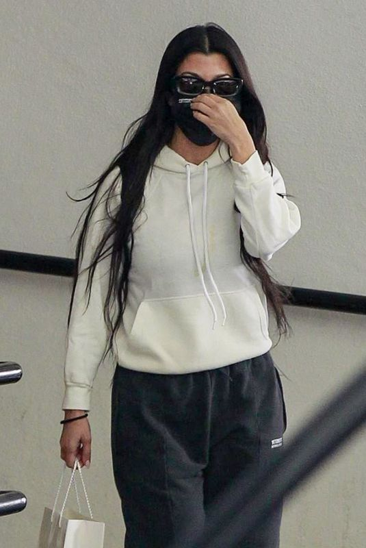 KOURTNEY KARDASHIAN at a Dermatology Office in Beverly Hills 03/01/2021