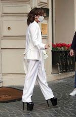 LADY GAGA Leaves Her Hotel in Rome 03/04/2021
